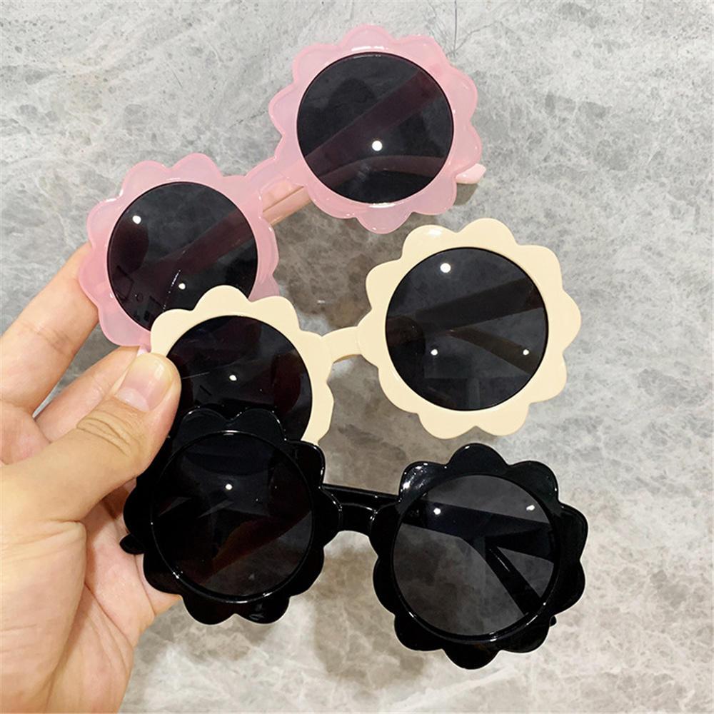 1pc Vintage Kids Sunglasses Child Sun Glasses Round Flower Gafas Baby Children UV400 Sport Sunglasse