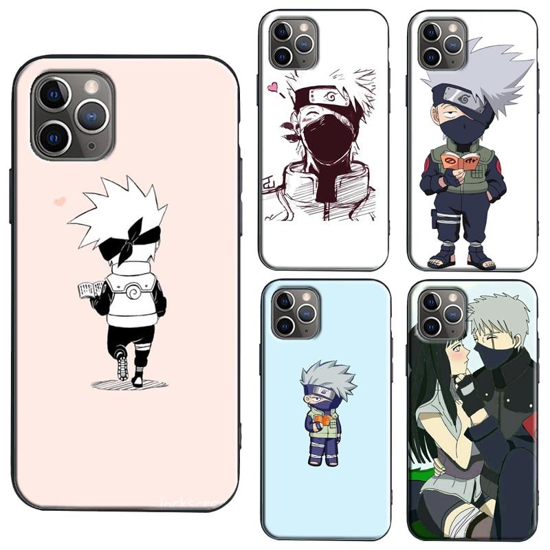 Naruto Kakashi Anime Nette TPU Fall Für iPhone 11 Pro Max X XS Max XR 5S 6S 7 8 Plus SE 2020 Abdeckung Fundas