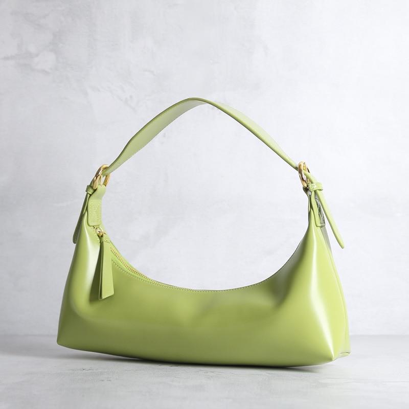 Luxury Snakeskin Underarm Women Bag 2020 Summer New High-end Single Shoulder Moon French Stick Half Moon Bag X011