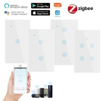 Interrupteur mural intelligent  1 2 3 4 boutons  wi-fi  pour maison connectee  compatible avec Alexa et Google Home