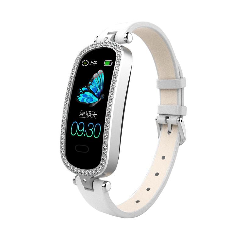 Bakeey I9 IP67 Fitness Tracker mujer joyería impermeable pulsera para mujer ritmo cardíaco Monitor de presión arterial WhatsApp reloj inteligente