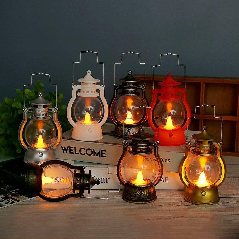 Retro Creative LED Pony Pumpkin Ghost Lantern Bar Party Prop Decoration Halloween Christmas Gift Home Decor