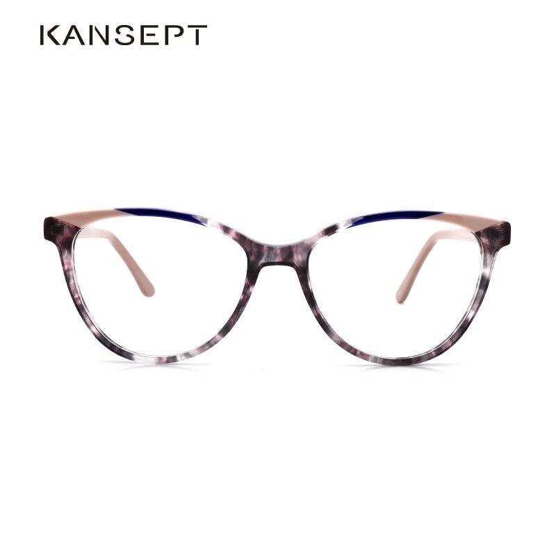 Kansept puro acetato óculos quadros feminino miopia prescrição óptica vintage óculos quadro feminino novo quadrado eyewear fp1978