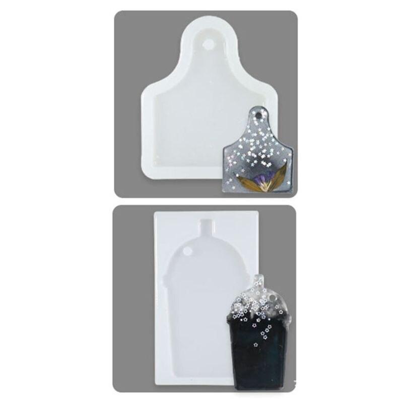 De cristal bricolaje molde de resina Epoxy silicona Aroma de yeso etiqueta molde herramienta de artesanía hecha a mano R7RF
