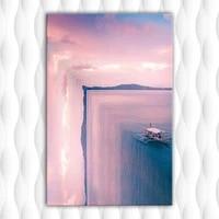 Affiche imprimee HD le bord du monde  peinture a lhuile sur toile  image dart pour mur de maison  decor de salon  sans cadre