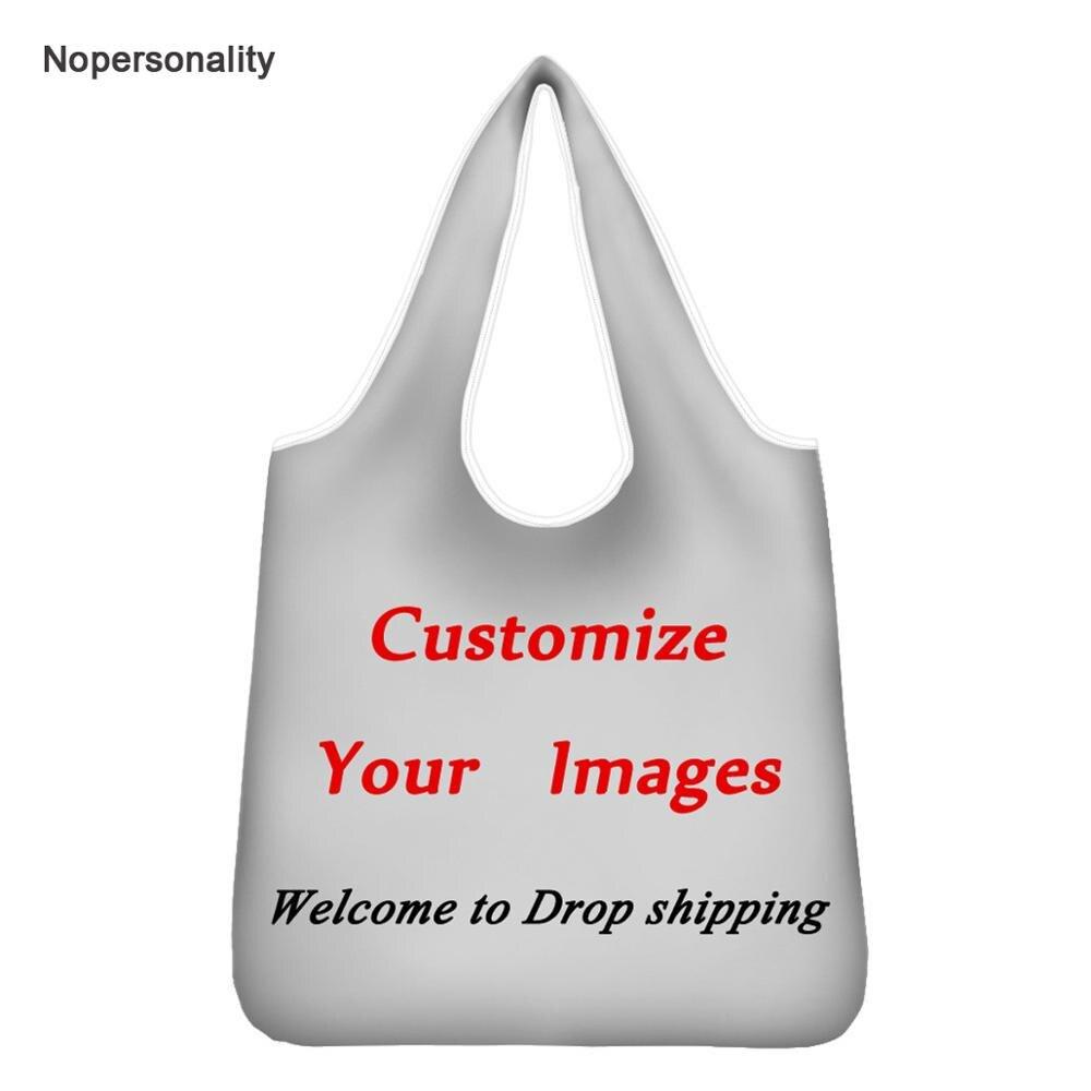 Сумка для покупок Nopersonality, Складная Большая Экологически чистая многоразовая Сумочка с надписью «Your Image»