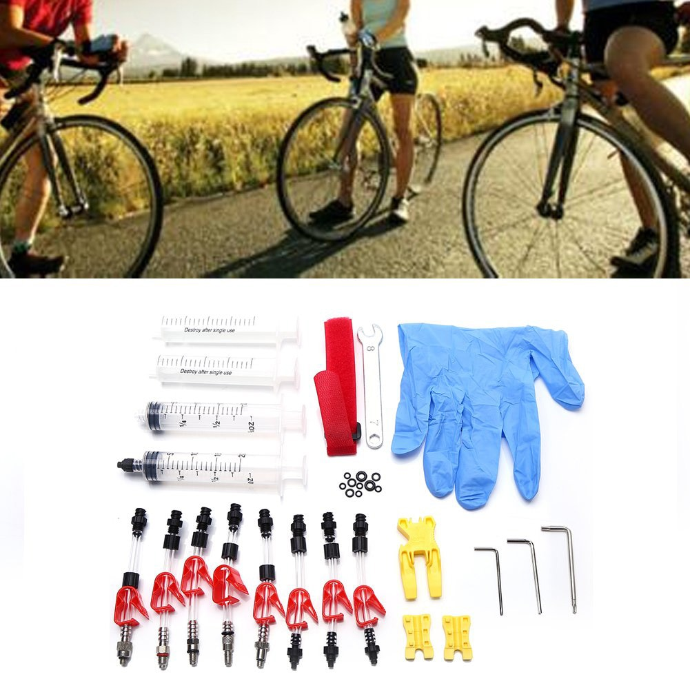Reparación de llave de jeringa embudo resistente duradero aceite Mineral herramienta de freno de disco bicicleta de ciclismo Kit de sangrado hidráulico hogar para Shimano