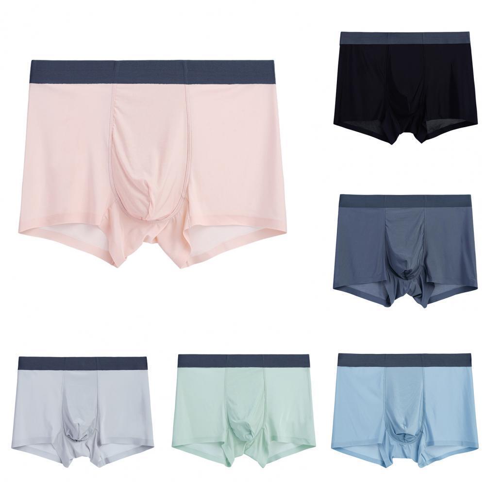 Solid Color Mens Boxers Ultra-thin Seamless Transparent Boxershorts Men Underwear Men Panties Boxers