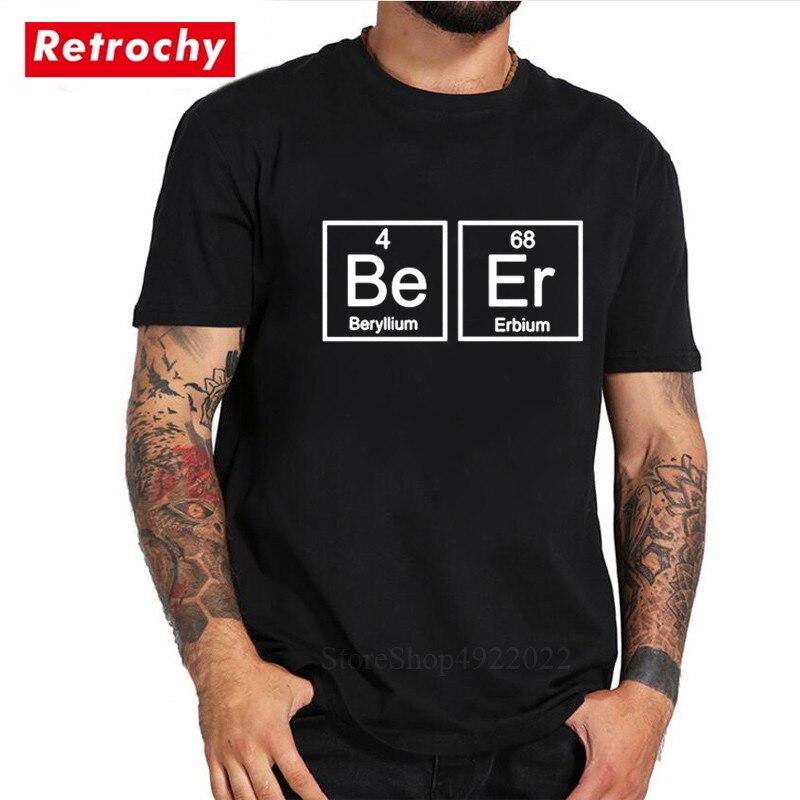 Chemistry Periodic Table Beer T Shirt Men Funny Casual Short Sleeve Cotton Tshirt Camisetas Fashion Design Pub Drink Bar T-shirt