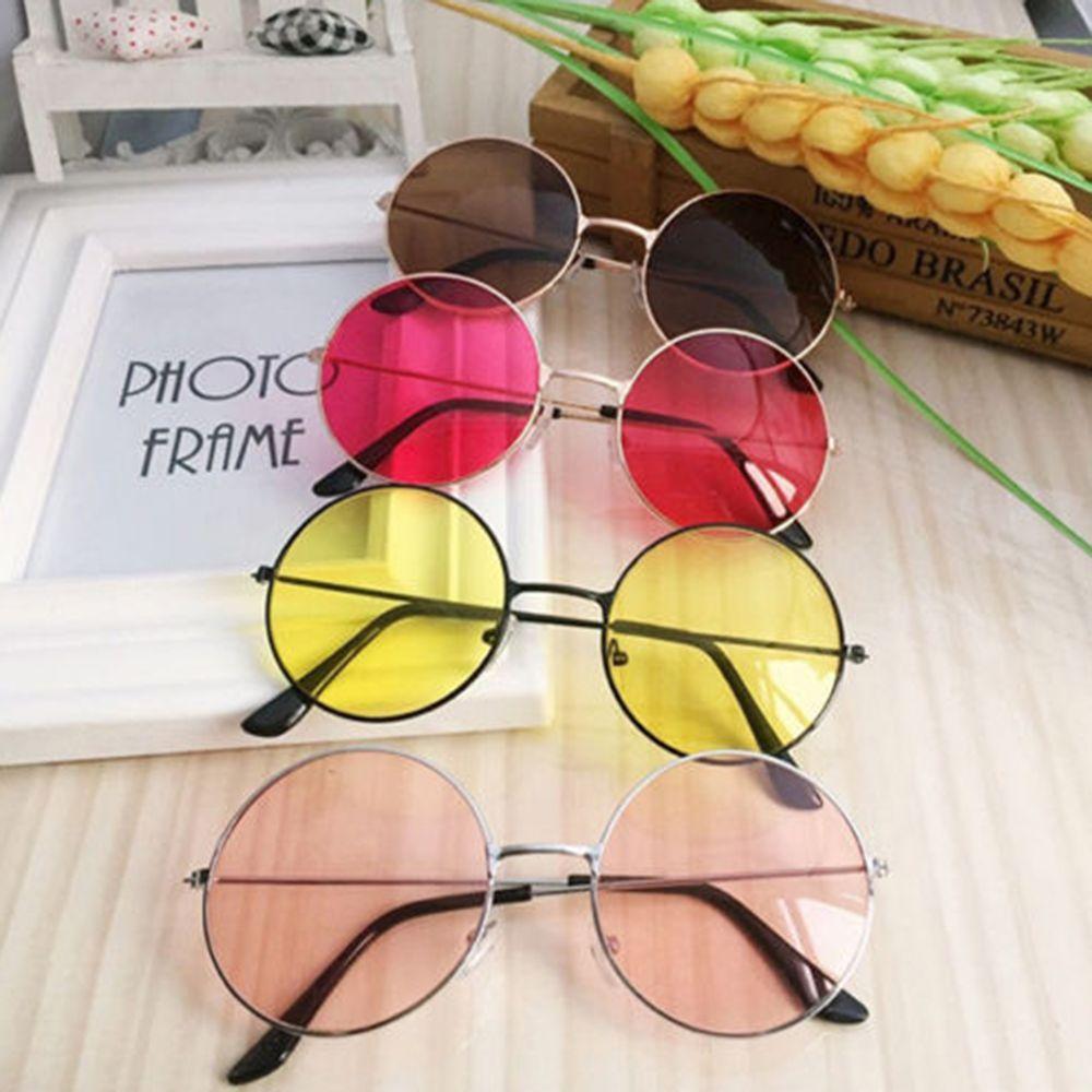 Женские Модные солнцезащитные очки в стиле ретро круглые пластиковые, стеклянные линзы, солнцезащитные очки оправа для очков, очки Женская ...