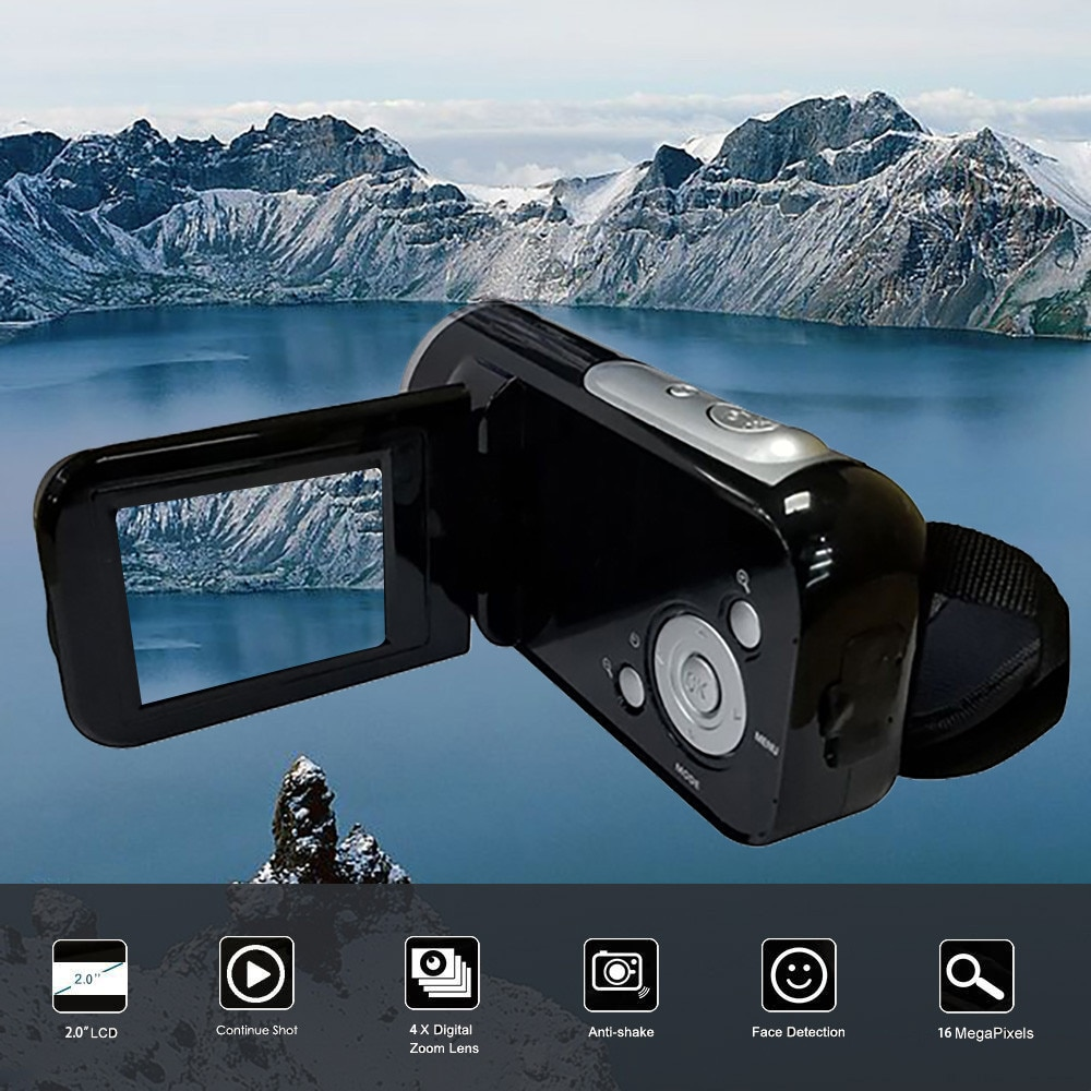 CARPRIE Video videocámara HD 1080P cámara Digital portátil 4X Zoom Digital SD/MMC coche 2 pulgadas TFT Pantalla 16 millones de píxeles