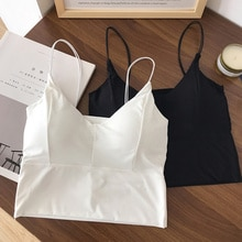 Sweet Spice Girl Suspender White Vest Women's Inner Layer Summer Design Sense Bottomed Beautiful Bac