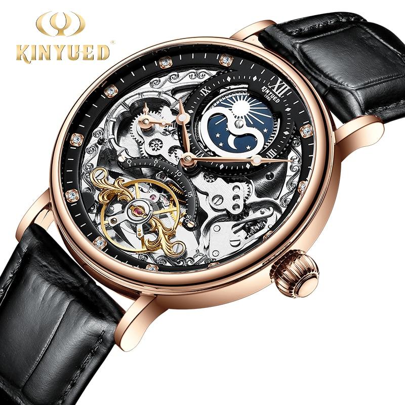 KINYUED-ساعة ميكانيكية أوتوماتيكية للرجال ، ساعة يد توربيون ، رياضية ، آلية لف ، للرجال