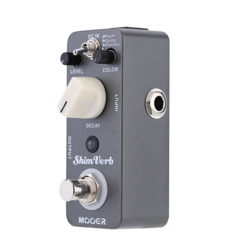 Mooer  ShimVerb Guitar Effect Pedal Delay Decay Digital Reverb Electric for Electric Guitar True Bypass Mrv1 Shim Verb Effect