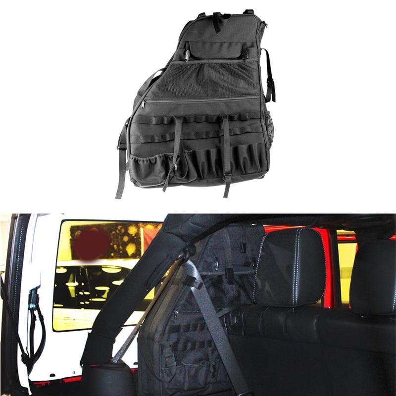 Roll Bar Storage Bag Cage for Jeep 2007~2019 Wrangler Jk Rubicon 4-Door with Multi-Pockets & Organiz