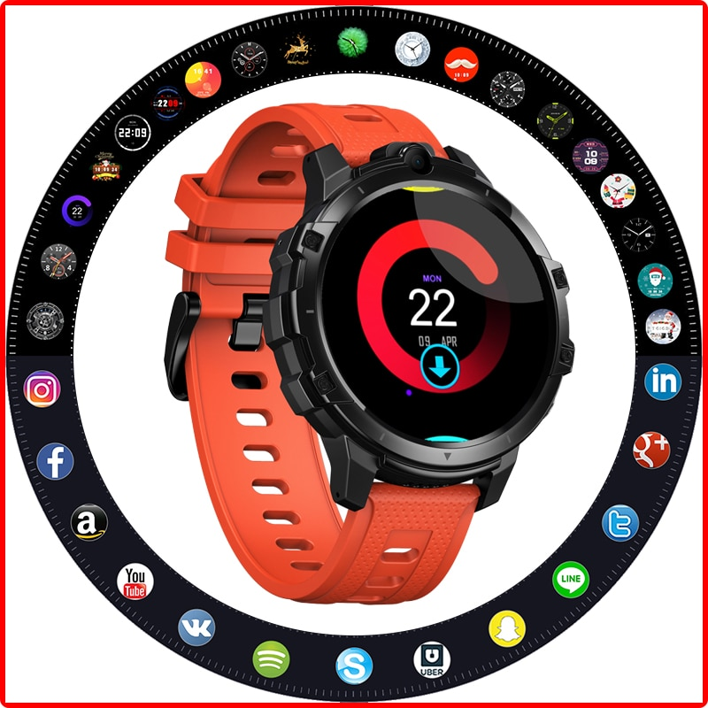 Review New 2021 Thor 6 Smart Watch Android 10 Octa Core Smart Watch Men 4G LTE BT 5.0 GPS Dual Camera 5.0MP 64G смарт часы For Amazfit