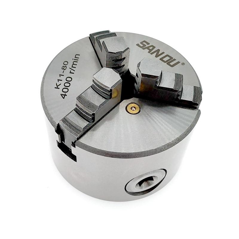 1 مجموعة K11-80 3 الفك آلة خراطة يدوية تشاك مع ماكينة خراطة أدوات اكسسوارات K11 80 3-فك المخرطة المخدد الذاتي توسيط المعادن