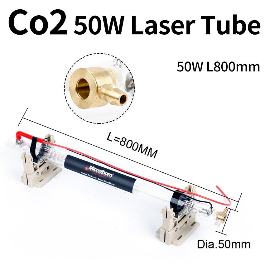 أنبوب ليزر Co2 50 واط 800*50 مللي متر للحفر بالليزر Co2/ماكينات قص