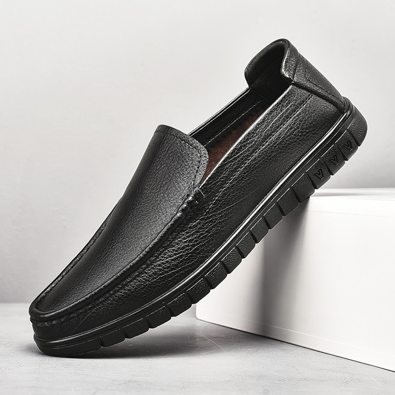 Slip On Loafers Men Casual Shoes Spring And Autumn Mens Driving Shoes Man Moccasins Leather Men's Fl