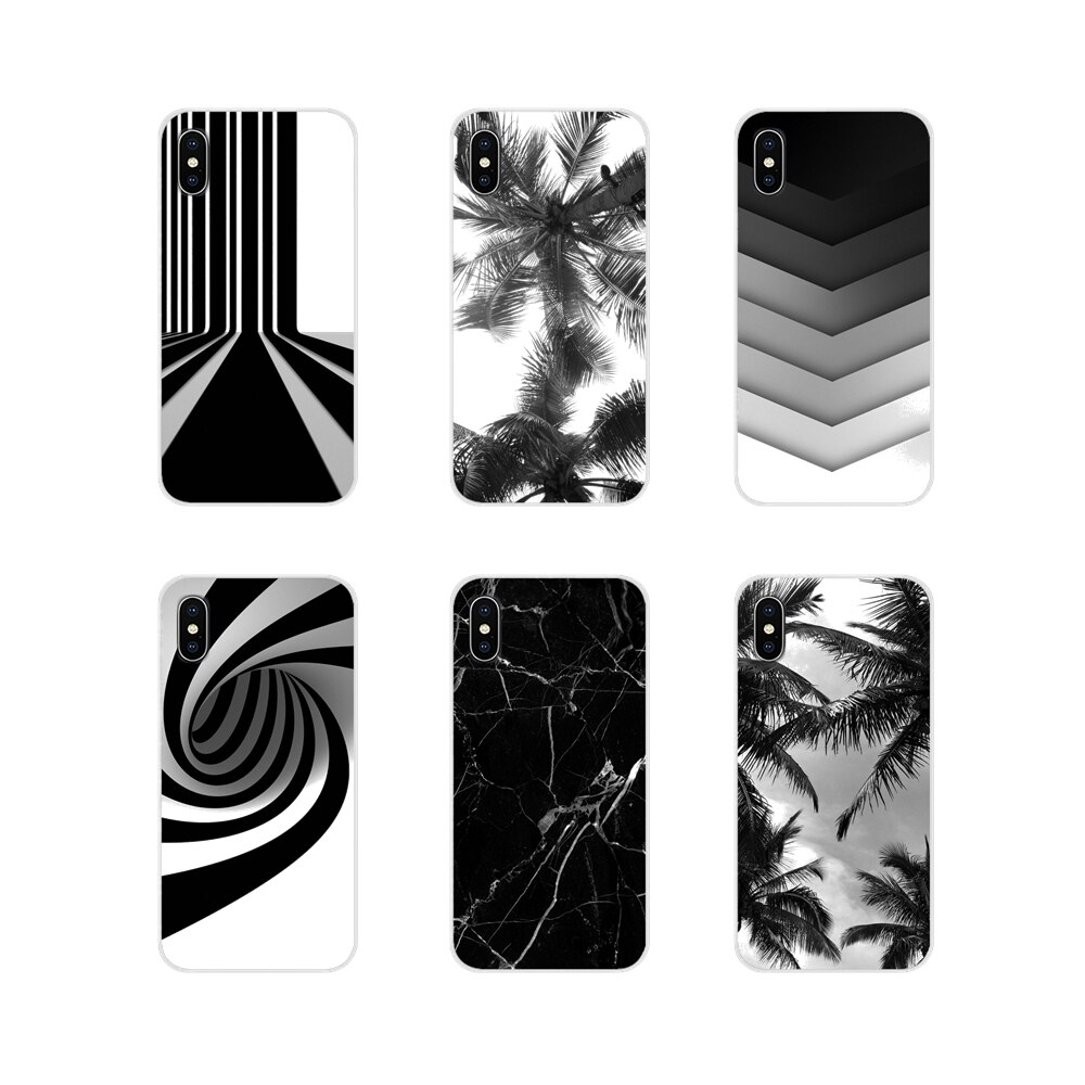 Blanco negro para BQ Aquaris 5059 S 5035 6040L C V Plus X X2 Pro U U2 Lite M 2017 E 4,5 E5 X5 accesorios cubiertas de los casos del teléfono