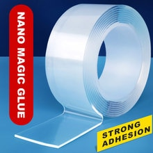 Double Sided Tape Car Transparent Reusable Wall Stickers Heat Resistant Tape Waterproof Tracsless Kitchen Accessories Nano Tapes