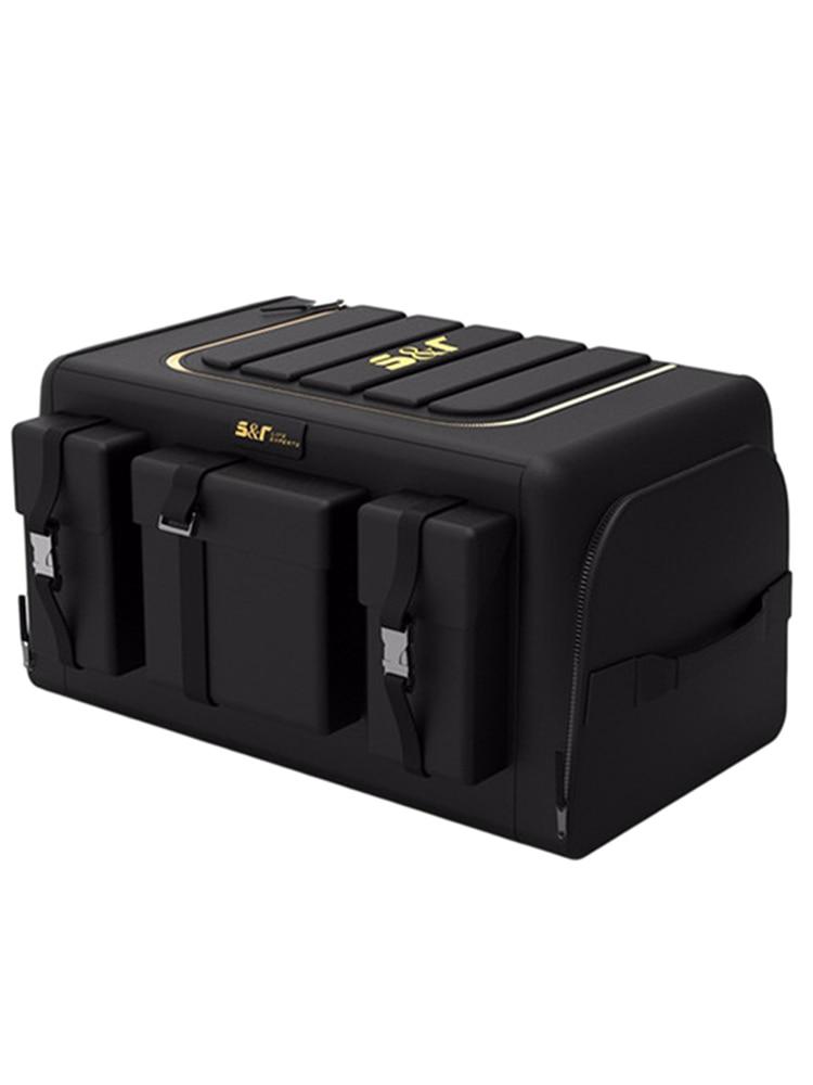 Collapsible Car Organizer Trunk Storage Bag Car Accessories Organizer Portable Cars Storage Black Fo