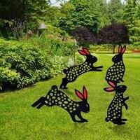 rabbit shape yard art decorations outdoor garden backyard lawn decorative stakes easter yard gardening cute bunny decor gift new