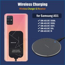 Wireless Charging for Samsung Galaxy A51 6.5'' Qi Wireless Charger+USB Type C Charging Adapter Recei