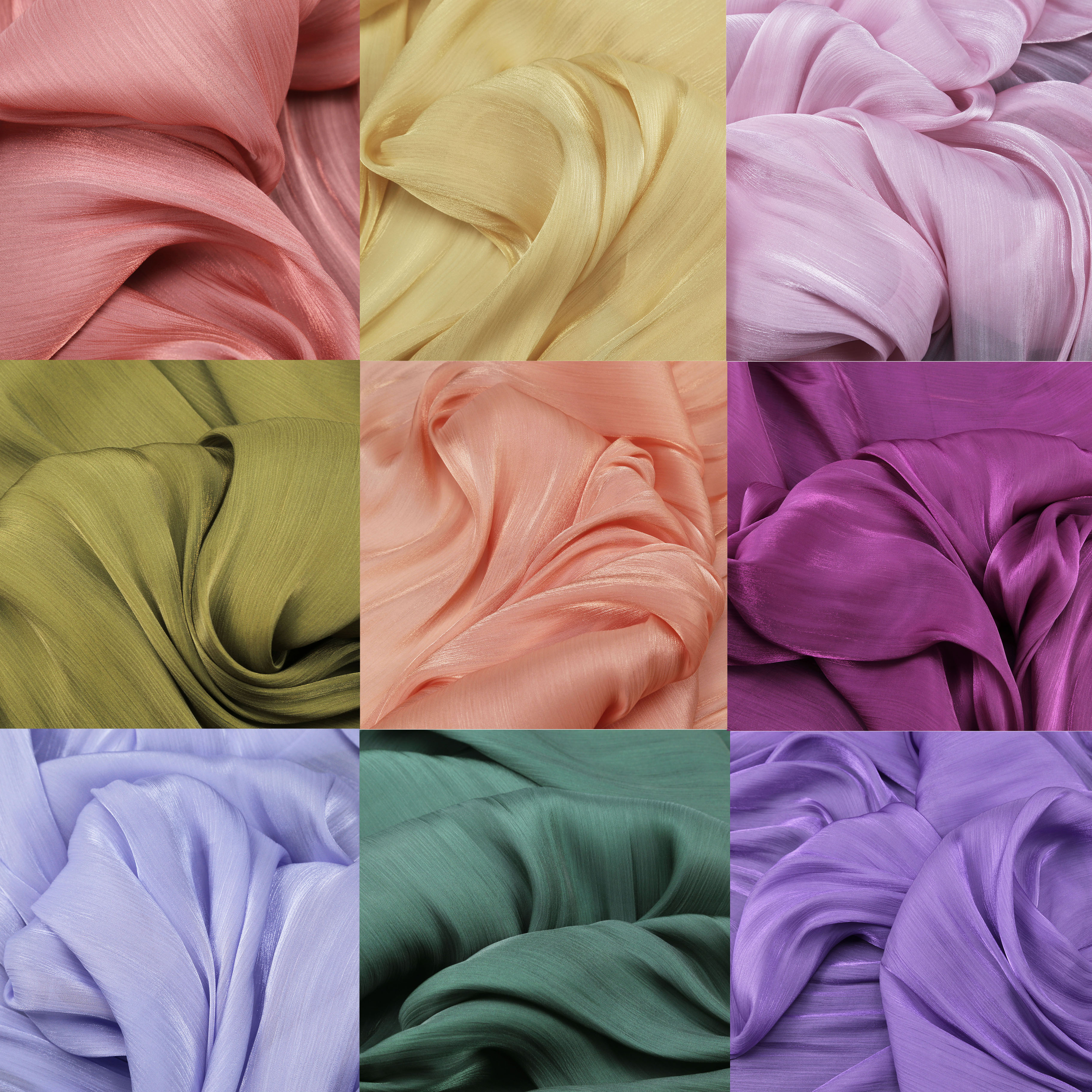 Spring streamer soft crystal satin fabric silky elegant shirt dress horse skirt Hanfu fabric by the meter 30-1