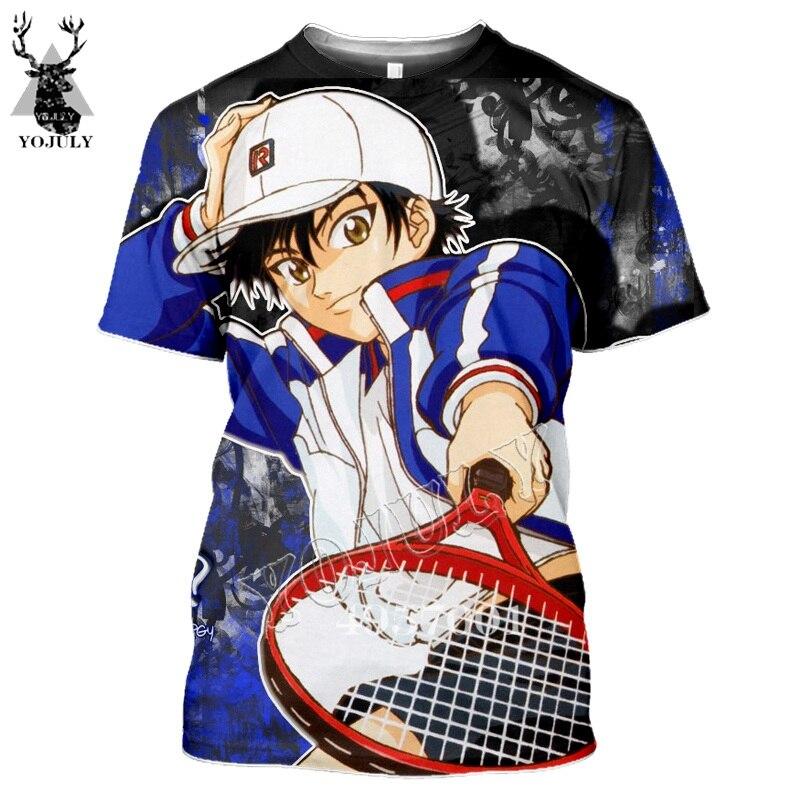 Anime tênis príncipe echizen ryoma 3d impressão roupas adulto casual moda camiseta de manga curta masculino t camisa cosplay topo y913