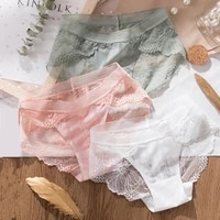 3pcs sexy lace panties for women underwear fashion panty lingerie breathable hollow out briefs low rise panties female seamless