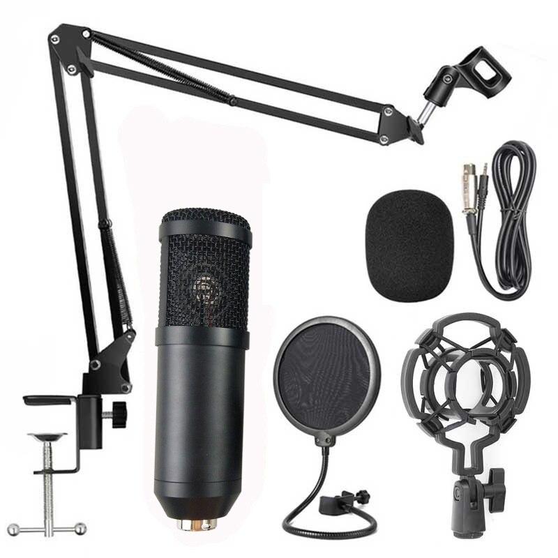 Nova atualização kit microfone condensador tripé conjunto estúdio de áudio para gravação & broscasting