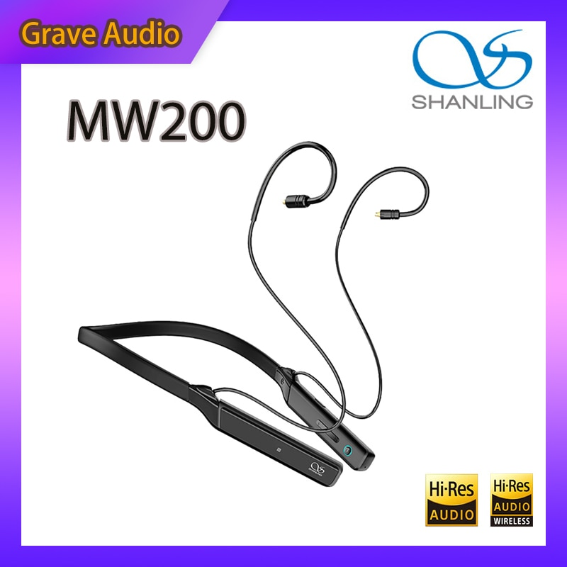 Shanling MW200 AK4377A CSR8675 بلوتوث 5.0 شريط حول الرقبة الرياضة MMCX سماعة كابل محول Codecs IPX4 LDAC LHDC AptX HD