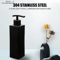 H40     distributeur de savon liquide en acier inoxydable  fait a la main  noir  accessoires pratiques pour salle de bain et cuisine