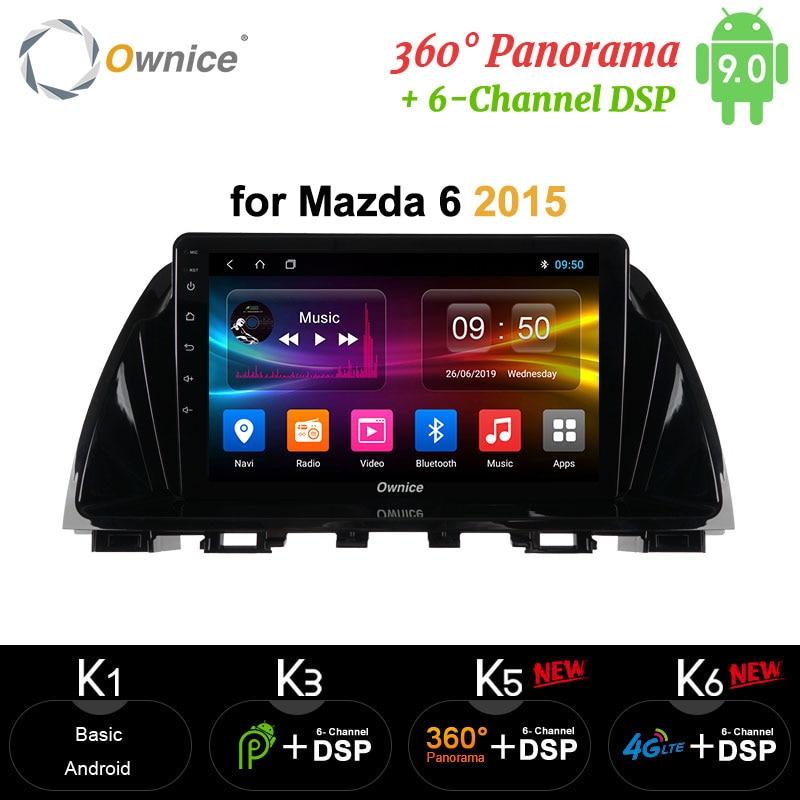Ownice carplay Android 10 4Gb + 64Gb Radio de coche 2 Din GPS Navi 4G DSP 360 Panorama óptico para Mazda 6 Atenza 2013, 2014, 2015, 2016