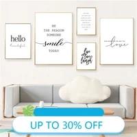 Affiches de peinture sur toile avec lettres imprimees  tableau dart mural pour decoration de salon  decoration de maison