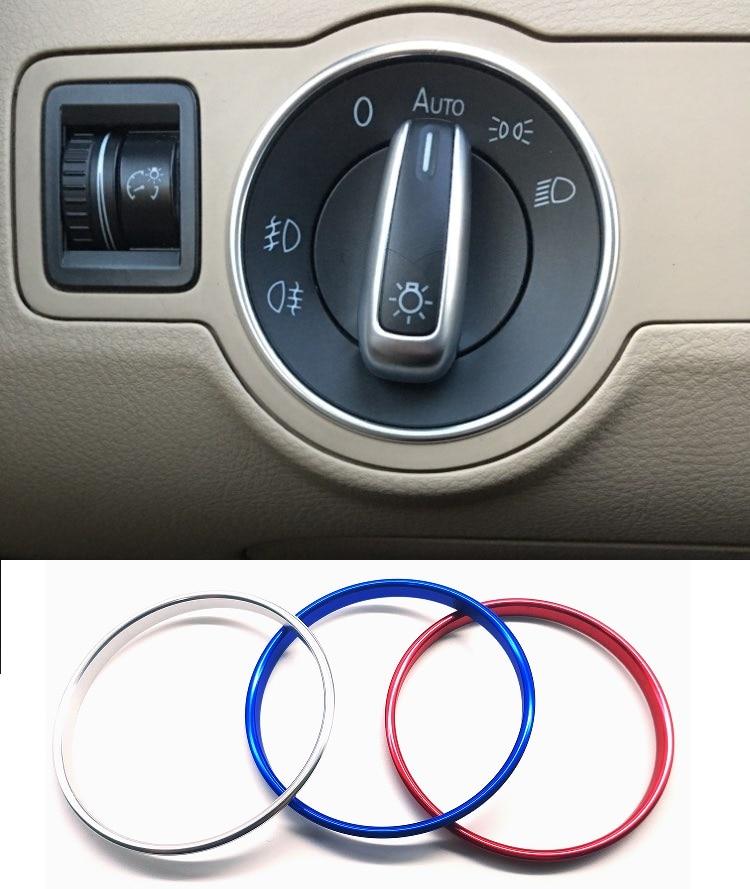 Выключатель фар декоративный рамка металлическое кольцо для Volkswagen VW PQ35 PQ46 Golf Jett MK5 MK6 Passat B6 B7 CC Touran Tiguan