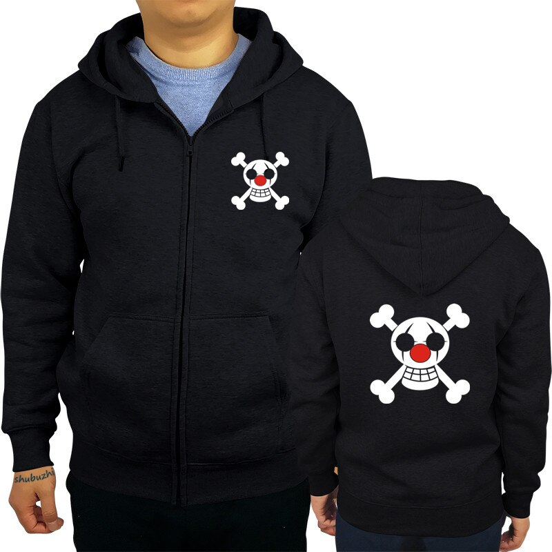One piece hoodie Buggy Pirates,Clown Pirate flag, anime hoodies Devil Fruit Sweatshirt fashion cool hoody sbz8318