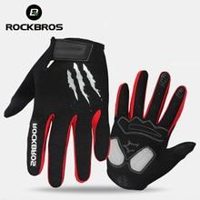 ROCKBROS gants de cyclisme éponge Pad doigt Long gants de moto pour vélo VTT gant écran tactile gants de VTT