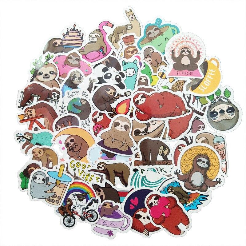 10-50pcs-non-ripetere-sveglio-sloth-di-cancelleria-impermeabile-autoadesivo-del-pvc-di-skateboard-valigia-chitarra-deposito-per-il-capretto-giocattolo-fai-da-te-sticker
