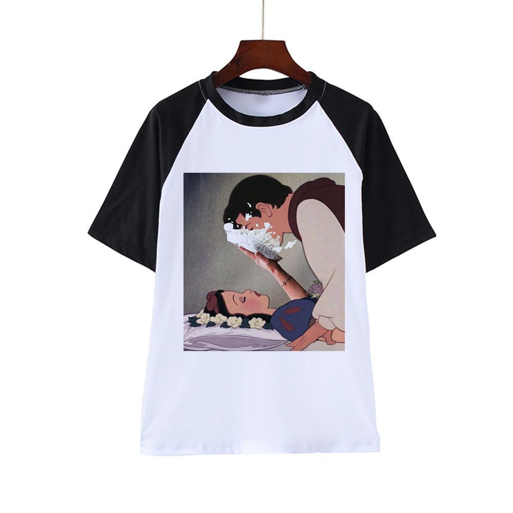 Harajuku femmes T-shirts été drôle impression Hip Hop T-shirt filles étudiant Streetwear décontracté hauts T-shirts