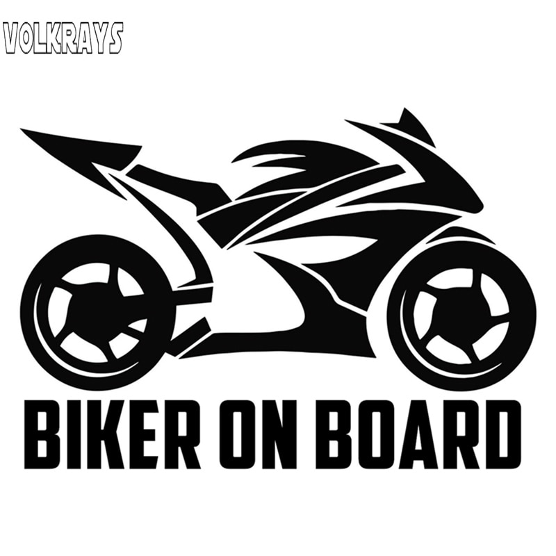 Volkrays autocollant de voiture drôle motard à bord vinyle étanche crème solaire décalques Auto motos accessoires de décoration, 20cm * 14cm