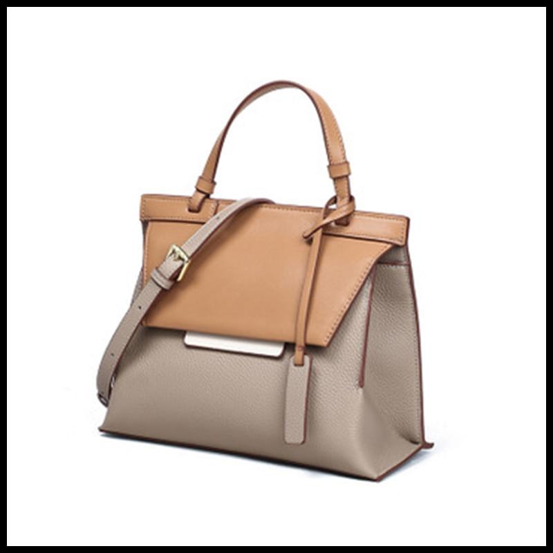 Многофункциональная женская сумка из натуральной воловьей кожи, Новое поступление 2021, вместительная сумка через плечо для дам