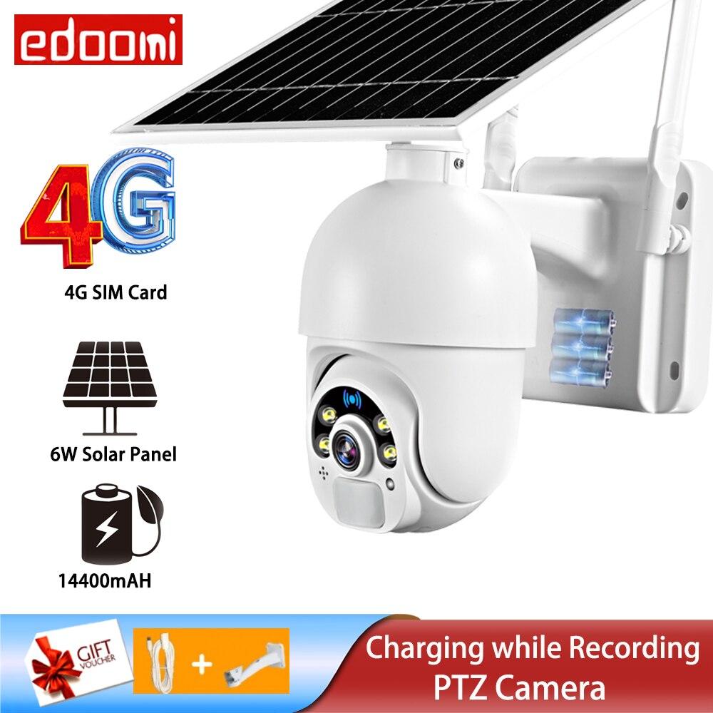 IP-камера с солнечной батареей, 1080P, PTZ, Wi-Fi