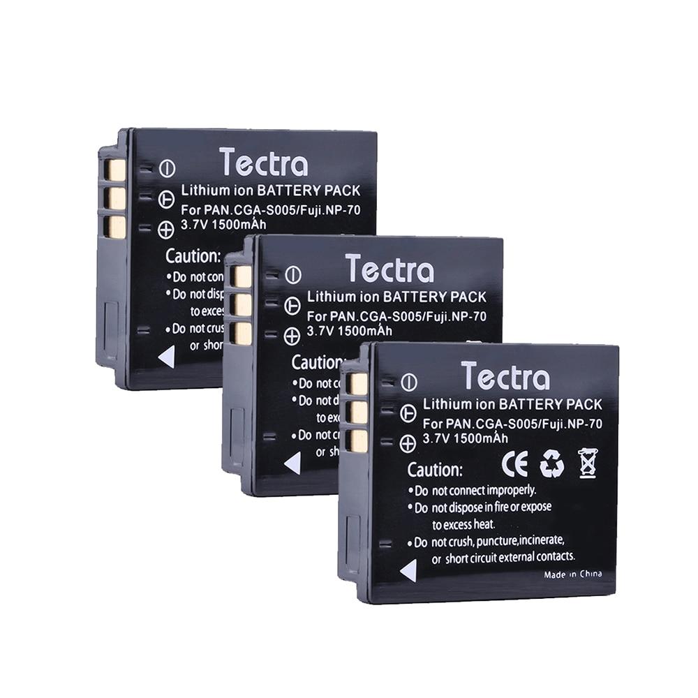 3pc 1500mAh CGA-S005E CGA-S005 S005E cga-s005e Li-ion Battery for Panasonic Lumix DMC-LX1 LX2 LX3 FX3 BCC12 For FUJI NP-70 DB60