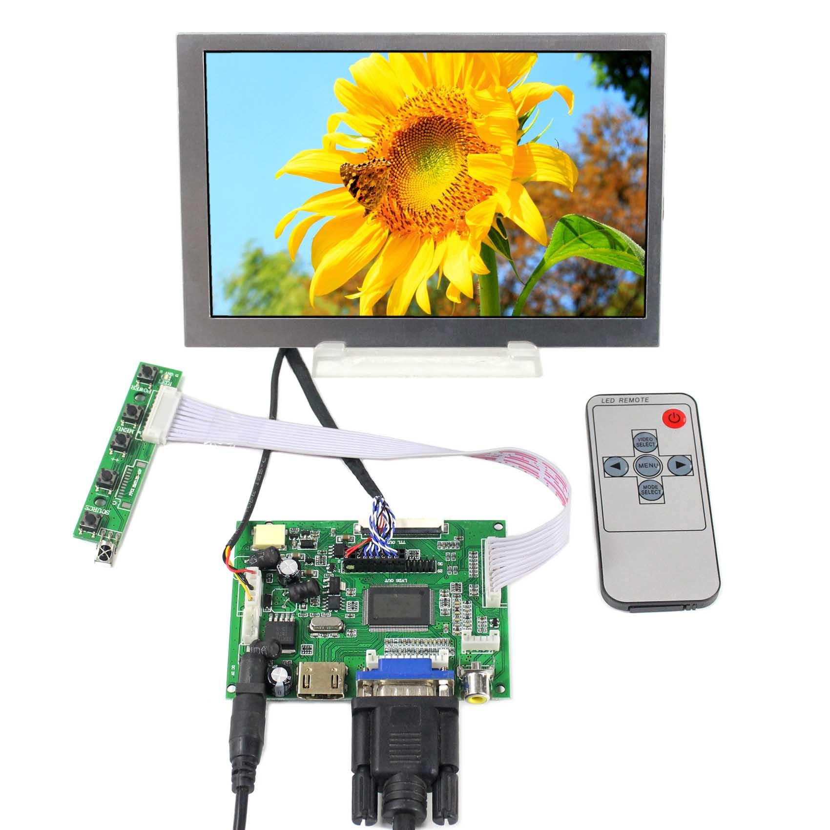 7 polegada g070vw01 v0 800x480 tela lcd com hd mi vga + 2av lcd placa de controlador VS-TY2662-V1