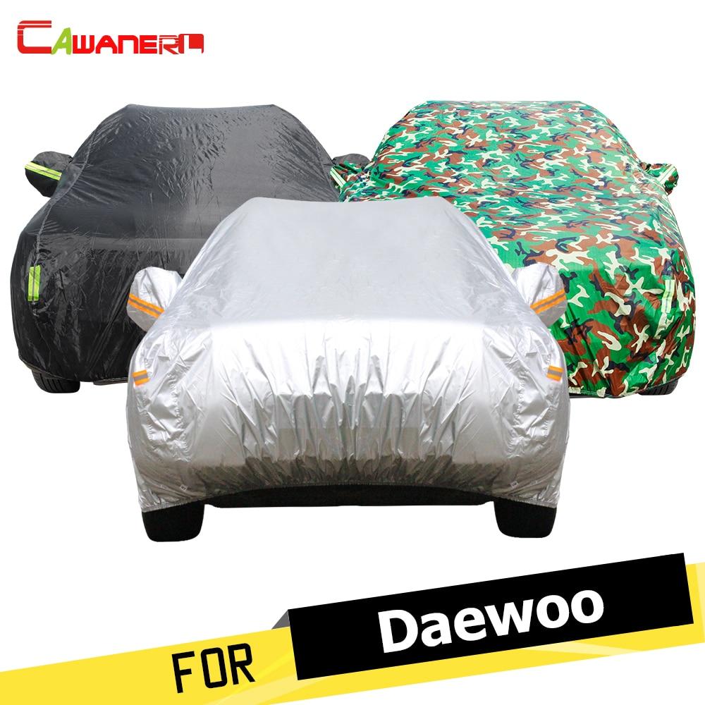 Cawanerl Car Cover Sun Rain Snow Resistant Cover For Daewoo Leganza Espero Kalos Lanos Rezzo Nubira Matiz Magnus Tico Statesman