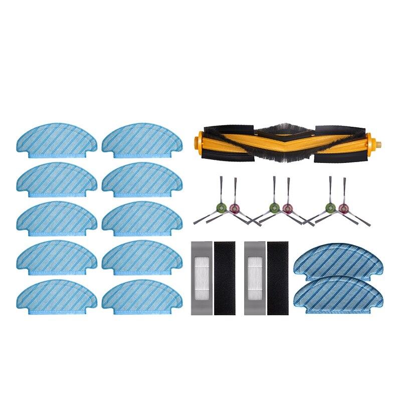 10 قطعة قماش ممسحة تنظيف الملابس مع ممسحة القماش الجانب فرشاة تصفية فرش الرئيسية ، ل Ecovacs Deebot T8 مكنسة كهربائية