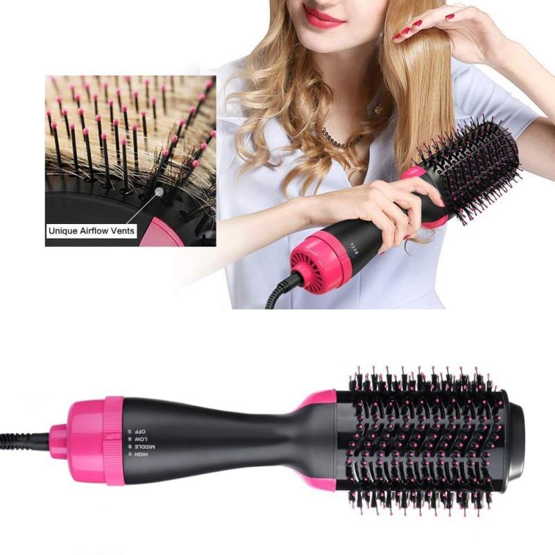 Secador de pelo de un solo paso y rodillo volumizador cepillo eléctrico de aire caliente rizador y alisador secador de aire caliente de salón peine para pelo con estilo