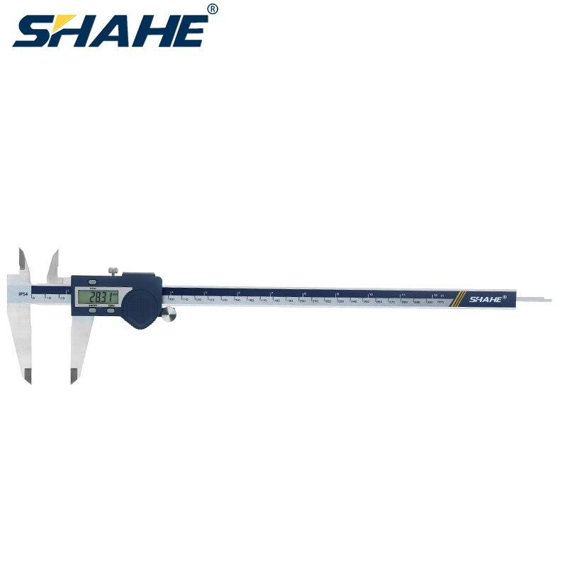SHAHE nuevo acero inoxidable Digital de LCD electrónica Vernier, 300 mm micrometro aúna todas paquimetro digital